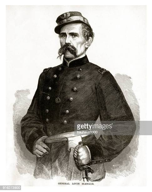 General Louis Blenker Civil War Engraving