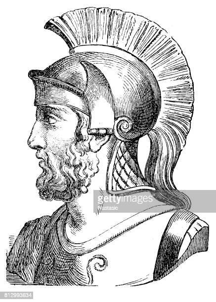 general themistocles - corinthian stock illustrations, clip art, cartoons, & icons