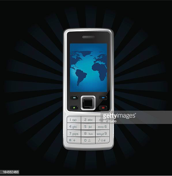 Generic mobile phone with  world map