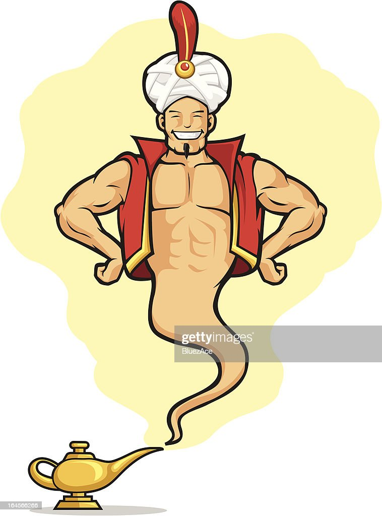 Genie Appear from Magic Lamp