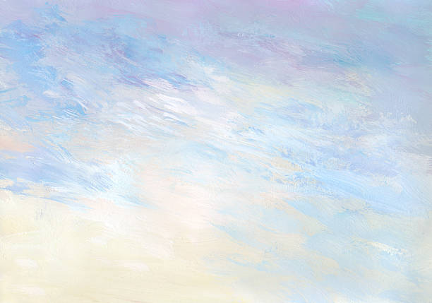 gentle sunrise - abstract painted background - pastel stock illustrations