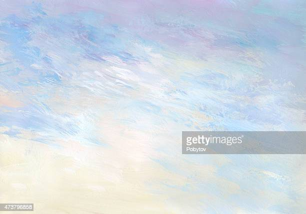 gentle sunrise - abstract painted background - overcast stock illustrations, clip art, cartoons, & icons