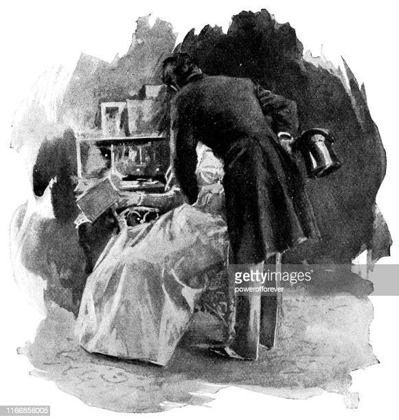 Gentleman Introducing Himself to a Lady in New York City, New York, United States - 19th Century