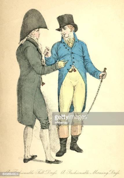 Gentlemen's full dress and morning dress, 1807