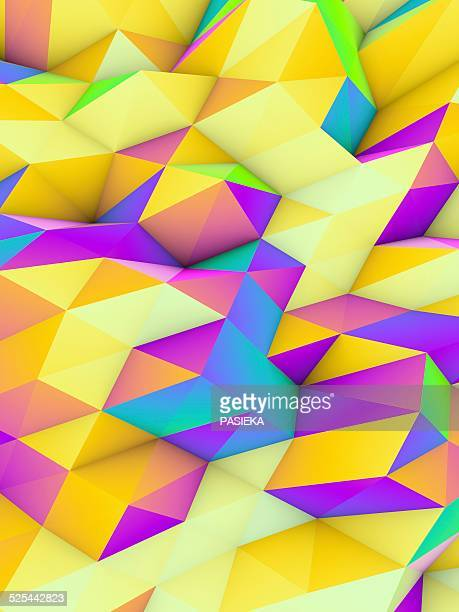 geometric abstract polygonal background - geometry stock illustrations