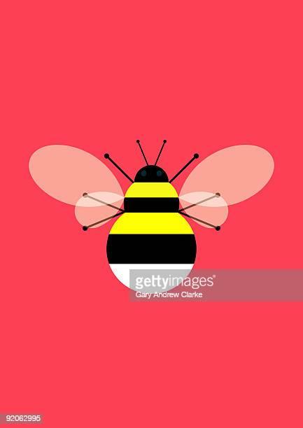 geometric bumblebee - bumblebee stock illustrations, clip art, cartoons, & icons