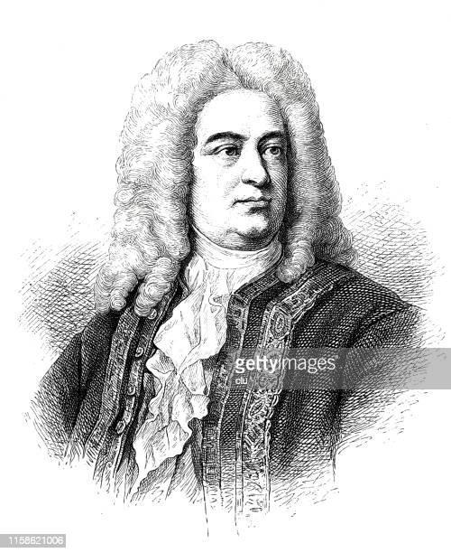 ゲオルク・フリードリヒ・ヘンデル、作曲家、1685-1759 - ジョージ ヘンデル点のイラスト素材/クリップアート素材/マンガ素材/アイコン素材