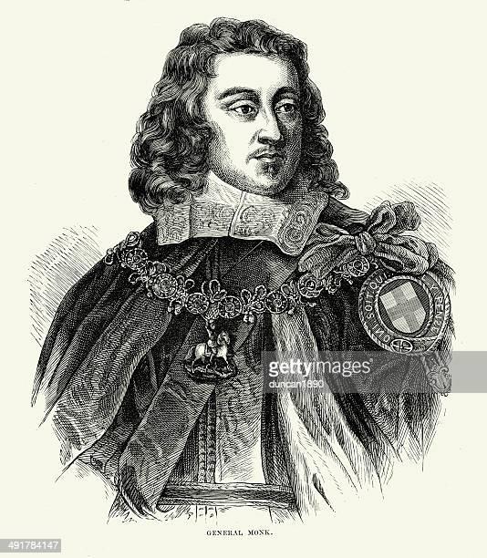 bildbanksillustrationer, clip art samt tecknat material och ikoner med george monck, 1st duke of albemarle - duke