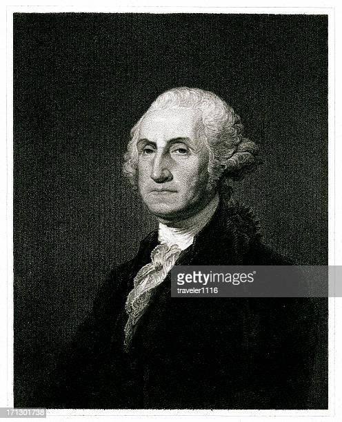 george washington - declaration of independence stock illustrations