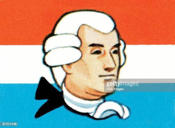 george washington - national flag stock illustrations