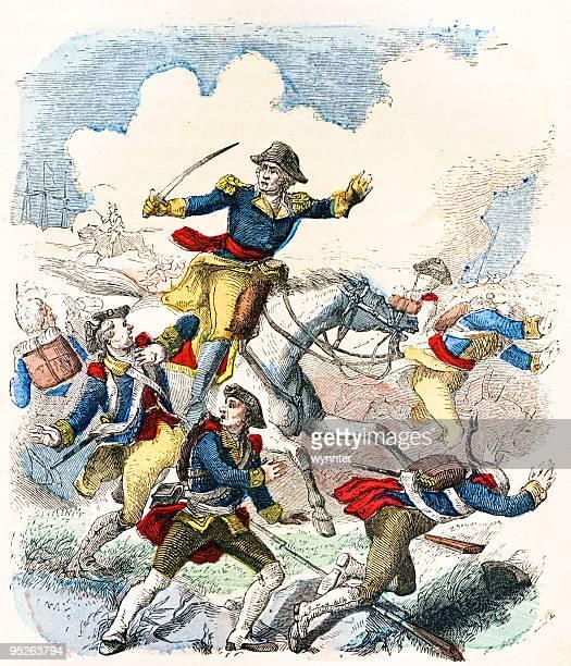ilustraciones, imágenes clip art, dibujos animados e iconos de stock de george washington olimpia, las tropas - american revolution