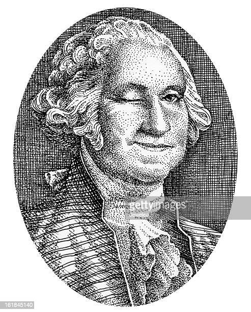 george washington smiles and winks from his picture on money - president stock illustrations, clip art, cartoons, & icons
