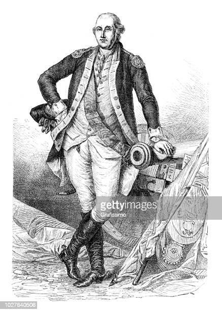 George Washington US president portrait illsutartion