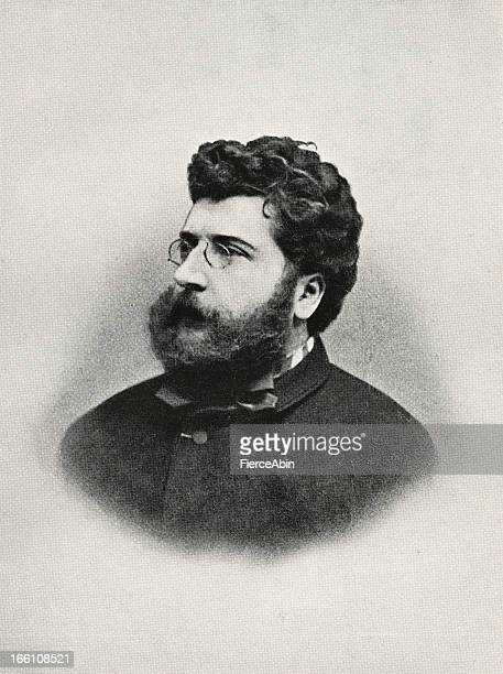 georges bizet - france stock illustrations