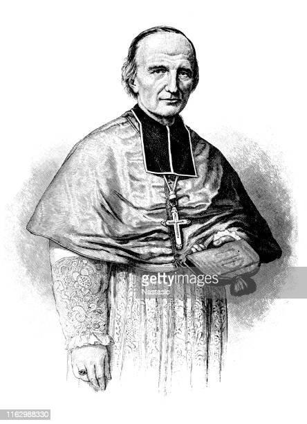 ilustrações, clipart, desenhos animados e ícones de georges darboy (16 de janeiro de 1813-24 de maio de 1871) foi um sacerdote católico francês, mais tarde bispo de nancy então arcebispo de paris - bishop clergy