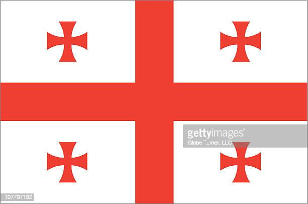 georgia republic flag - flagge von georgien stock-grafiken, -clipart, -cartoons und -symbole