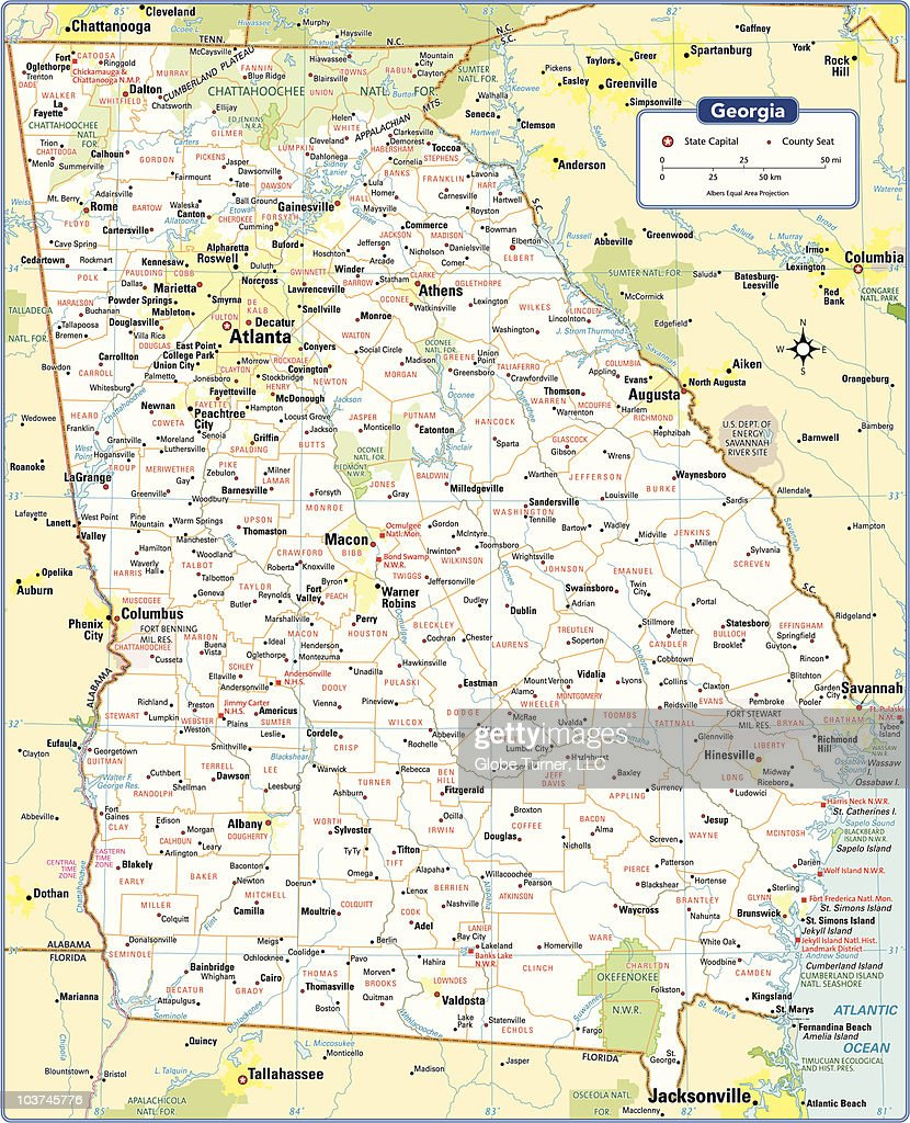 Georgia State Map Vector Art | Getty Images