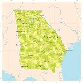 Georgia State Vector Map