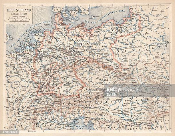 German Empire of 1871-1918, lithograph, published in 1875