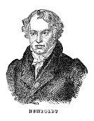 engraving german explorer alexander von humboldtoriginal