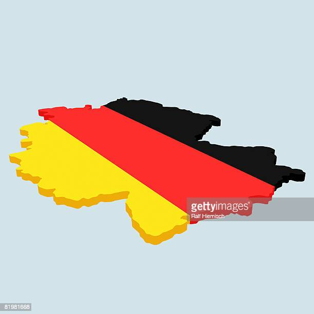 German flag in the shape of Germany
