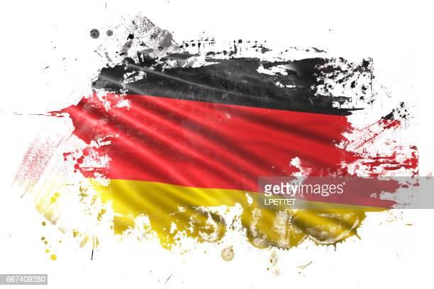 deutsche tinte grunge flagge - deutsche flagge stock-grafiken, -clipart, -cartoons und -symbole