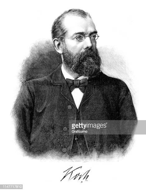 German microbiologist Robert Koch portrait from 1890