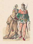 german nobility castle woman knight hunting