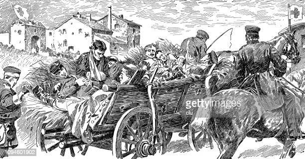 German-french war: transport of the wounded