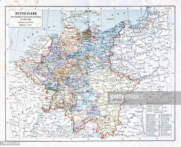 Germany, at the outbreak of the French Revolution in 1798