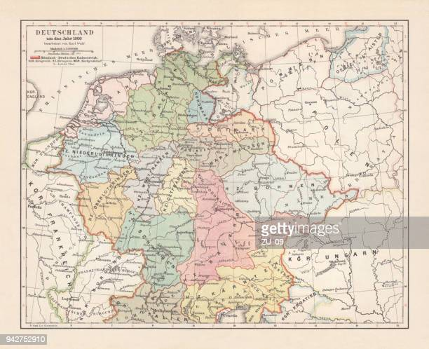 Alemania ca. 1000 AD, litografía, publicado en 1897