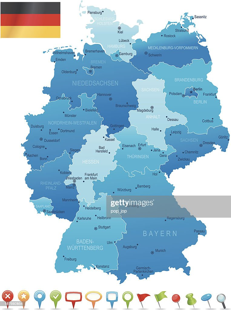 Germany Highly Detailed Map Vector Art Getty Images