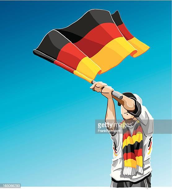 Deutschland winken Flagge Fußball-Fan
