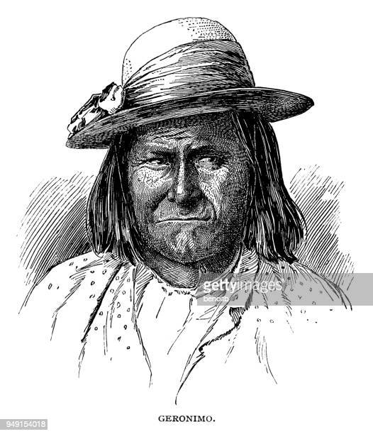 stockillustraties, clipart, cartoons en iconen met geronimo - geronimo