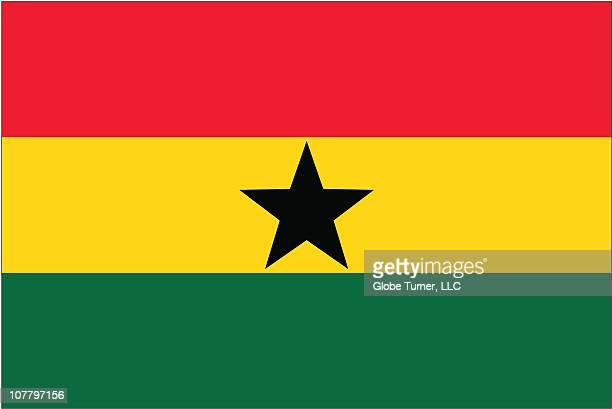 ghana flag - ghana flag stock illustrations, clip art, cartoons, & icons