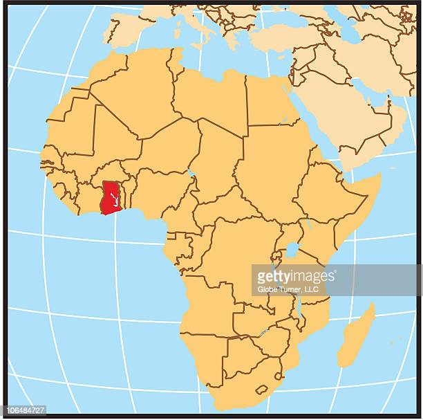 ghana locator map - locator map stock illustrations