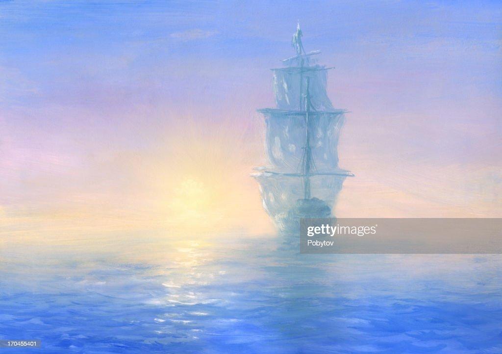Ghost Ship : stock illustration