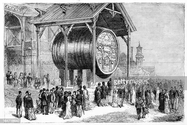Giant Hungarian barrel at Universal Expo in Paris