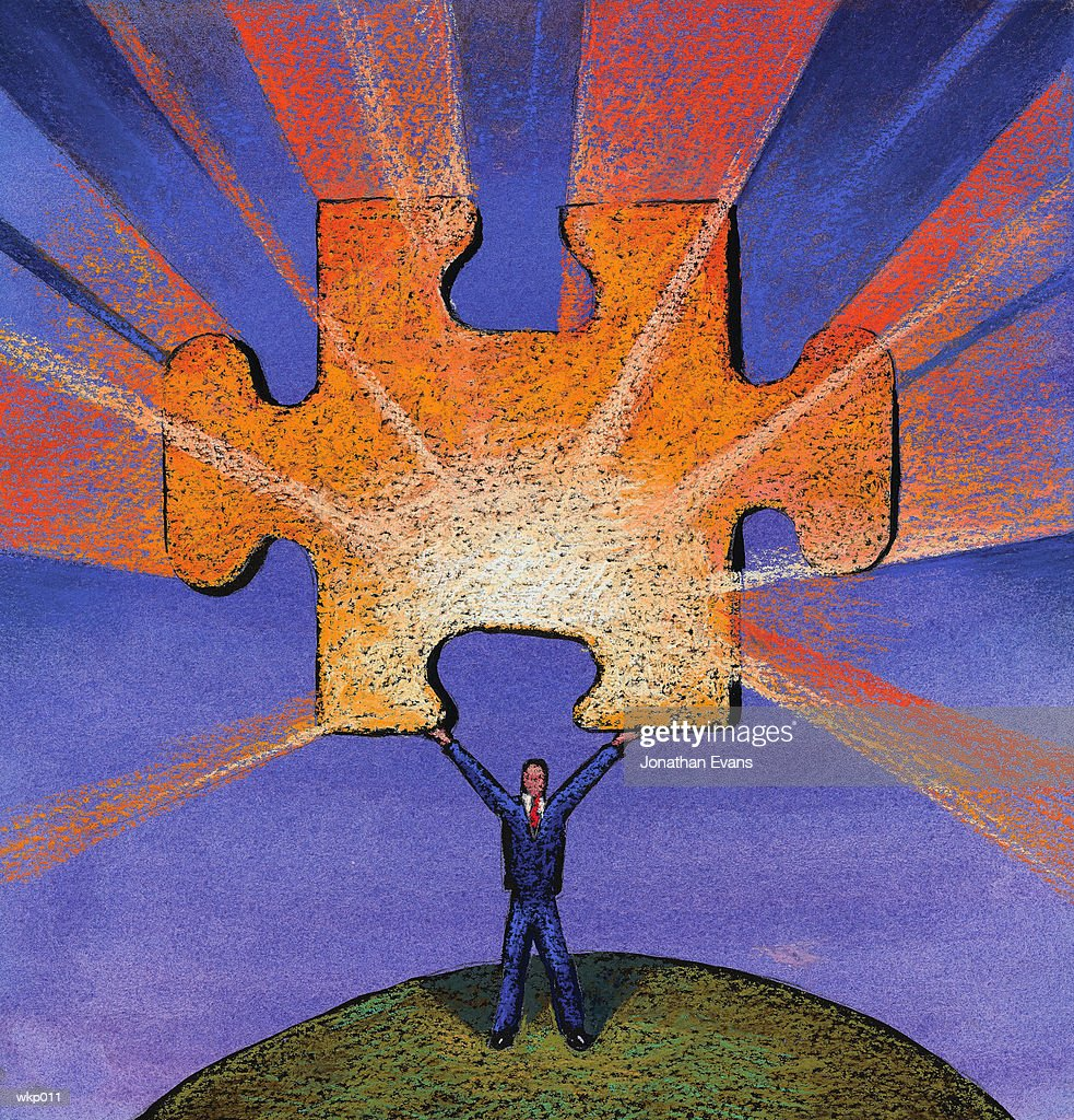 Giant Puzzle Piece : Stock Illustration