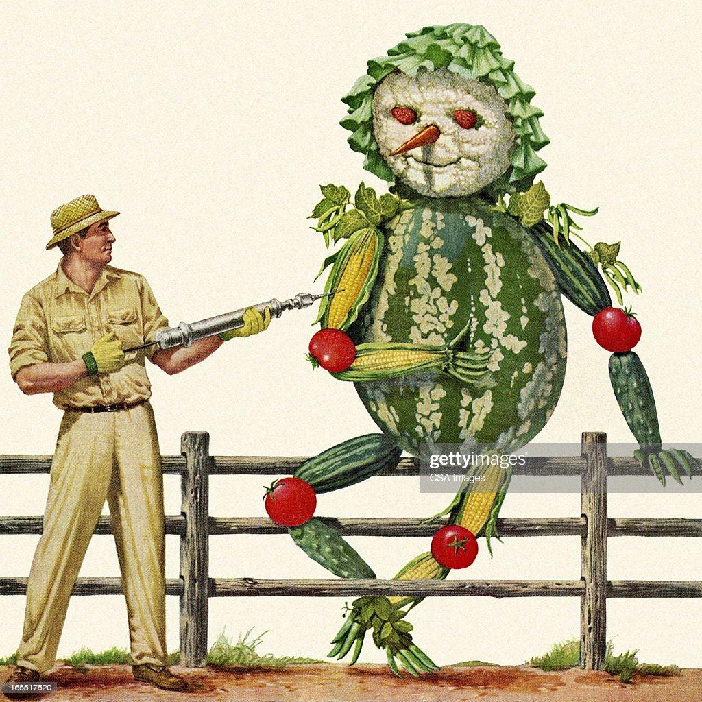 Giant Vegetable Character : Stock Illustration