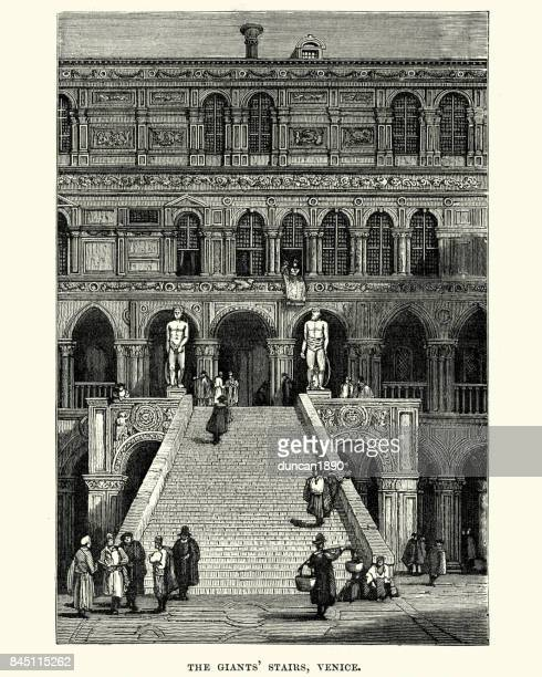 Giants Staircase of the Doge's Palace in Venice, 19th Century