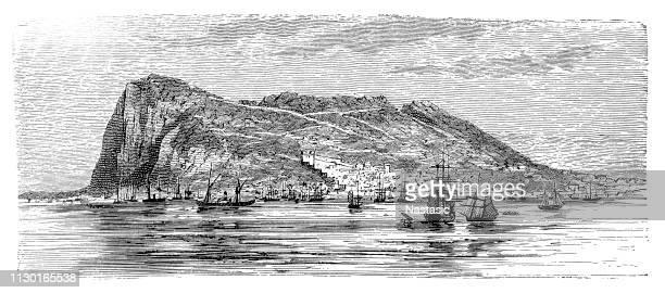 ilustraciones, imágenes clip art, dibujos animados e iconos de stock de gibraltar - villa asentamiento humano