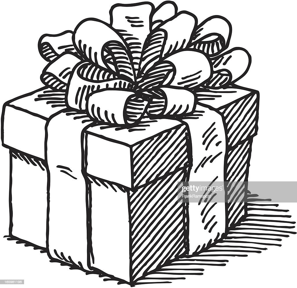 Gift box drawing vector art getty images gift box drawing vector art negle Image collections