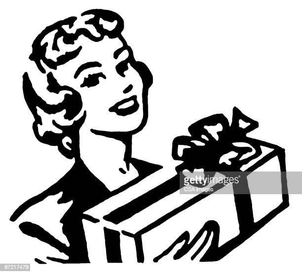 gift - receiving stock illustrations