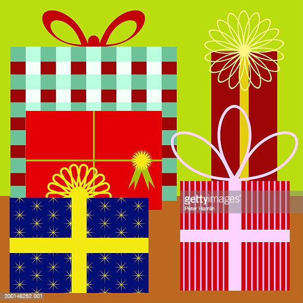 gifts - medium group of objects stock illustrations, clip art, cartoons, & icons