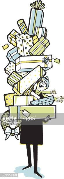 gifts - stack stock illustrations