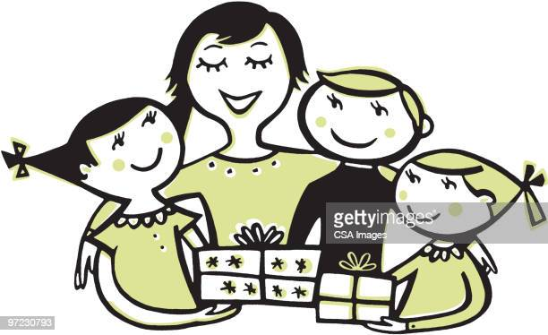 gifts - mothers day stock illustrations