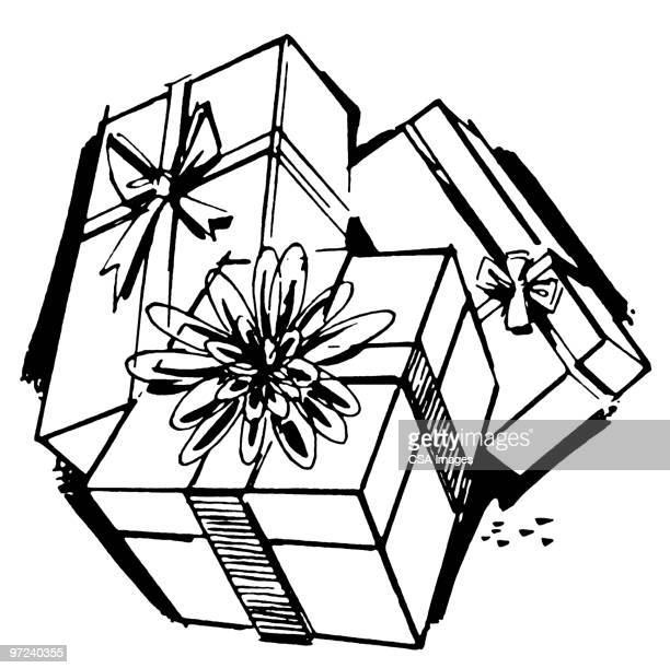 gifts - giving stock illustrations