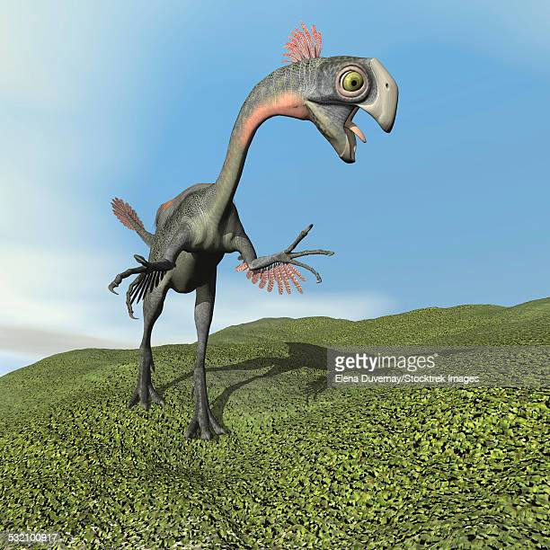 Gigantoraptor dinosaur.