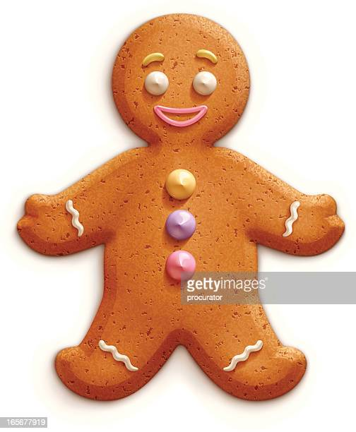 gingerbread man - cookie stock illustrations, clip art, cartoons, & icons